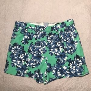 High-waisted J Crew floral shorts size 6